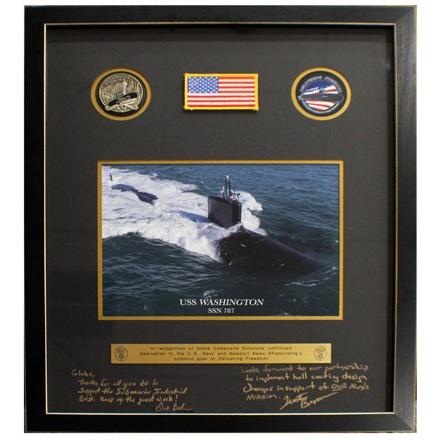 Submarine Builder Recognition Plaque