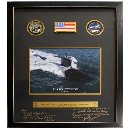 Submarine Builder Recognition Plaque